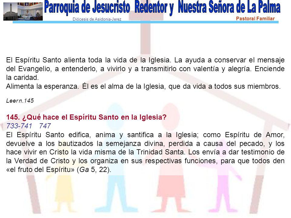 Diócesis de Asidonia-Jerez Pastoral Familiar El Espíritu Santo alienta toda la vida de la Iglesia.