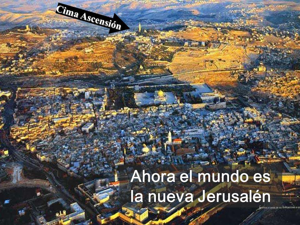 Cielo de Jerusalén LA DESPEDIDA Cuando Él está a la diestra de Dios, viene la hora del relevo