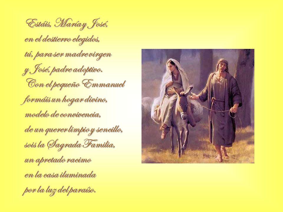 Pero gobierna Israel Arquéalo, de Herodes hijo, y a José le dice el ángel que se encamine a otro sitio.