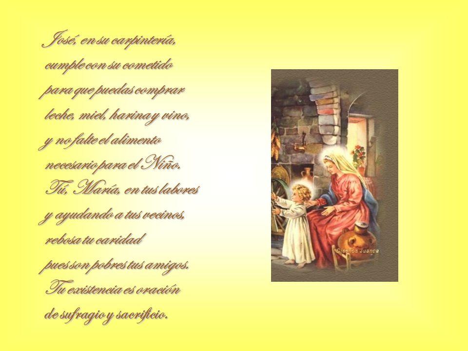 Estáis, María y José, en el destierro elegidos, tú, para ser madre virgen y José, padre adoptivo.
