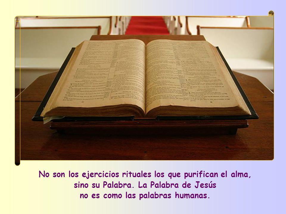 Ante todo, según Jesús, hay un método de purificación por excelencia: Vosotros estáis ya limpios gracias a la Palabra que os he anunciado .