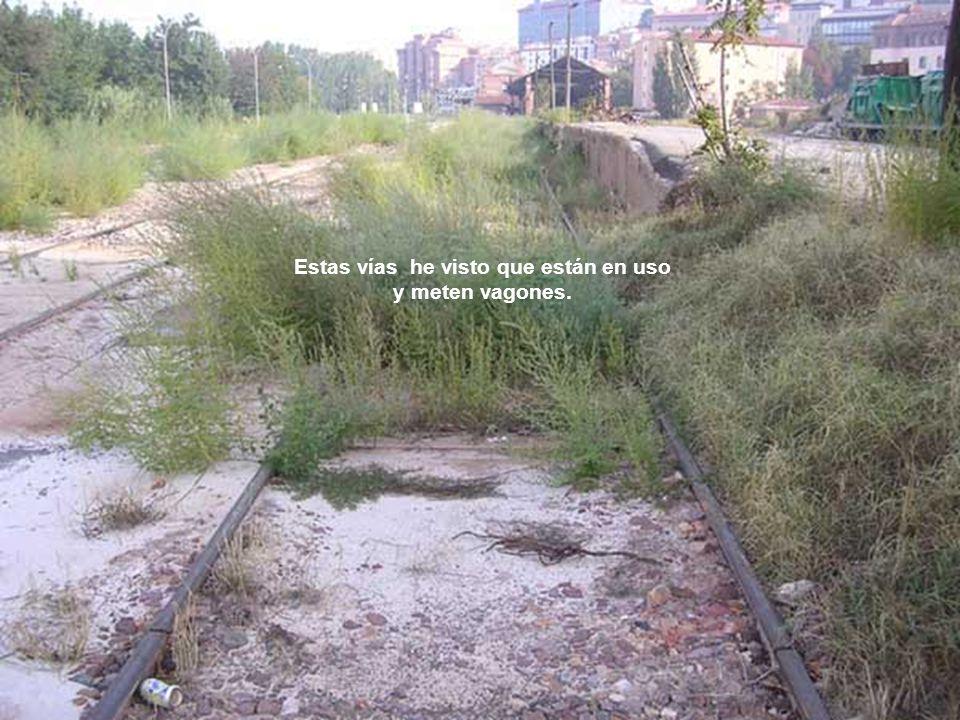 Estas vías he visto que están en uso y meten vagones.