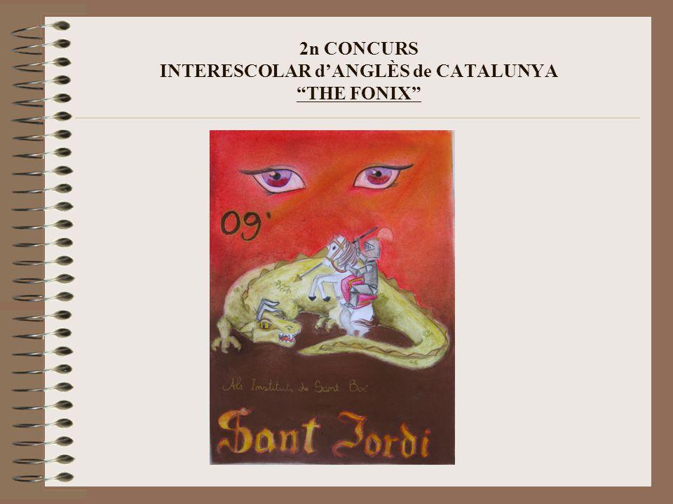 2n CONCURS INTERESCOLAR d'ANGLÈS de CATALUNYA THE FONIX