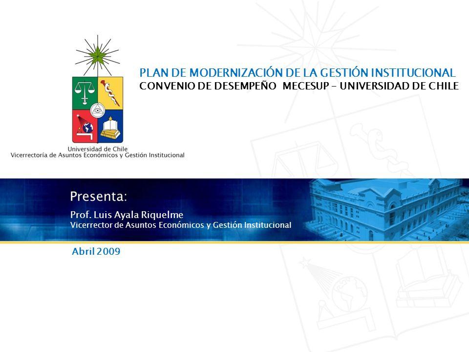 Modernización de la gestión institucional - Convenio de desempeño Mecesup Prof.