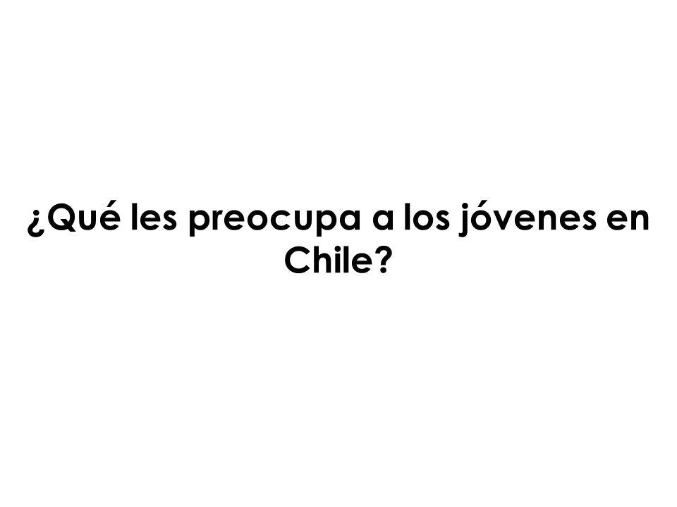 ¿Qué les preocupa a los jóvenes en Chile