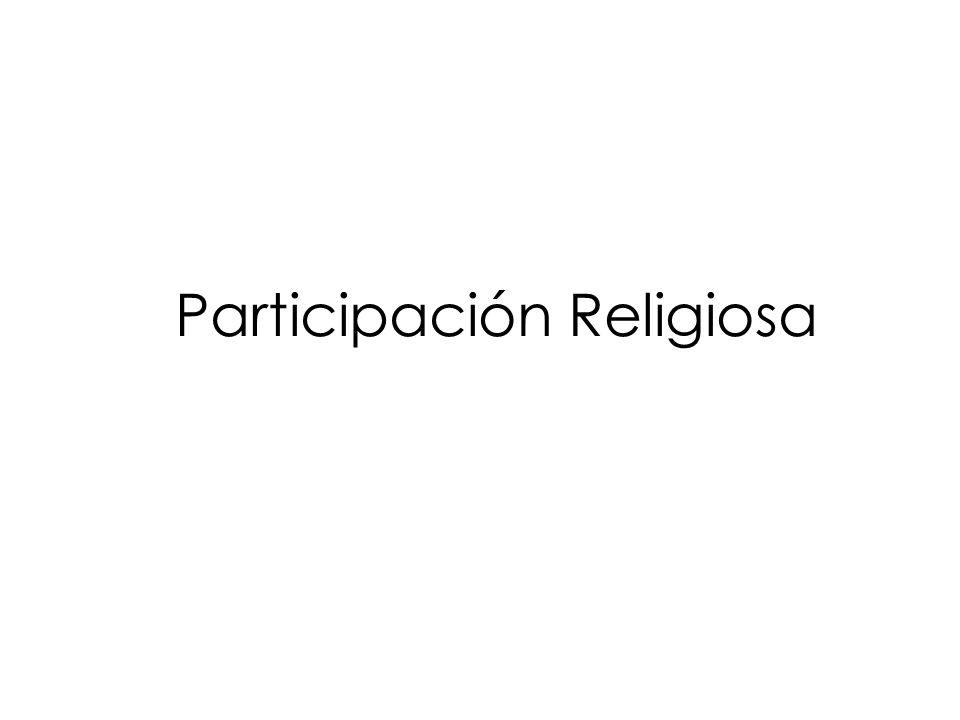 Participación Religiosa