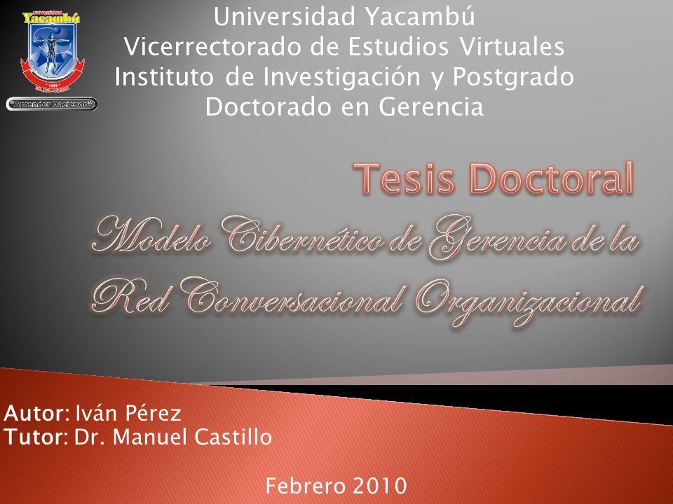 Autor: Iván Pérez Tutor: Dr.