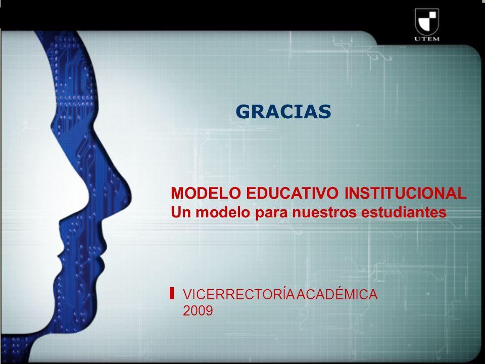 GRACIAS MODELO EDUCATIVO INSTITUCIONAL Un modelo para nuestros estudiantes VICERRECTORÍA ACADÉMICA 2009