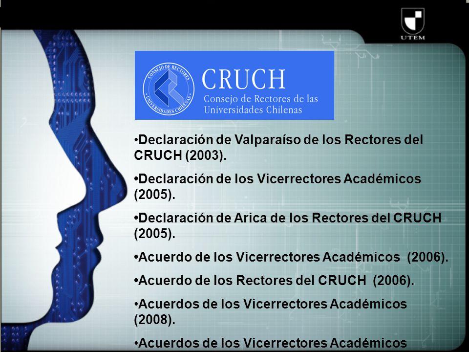 Declaración de Valparaíso de los Rectores del CRUCH (2003).