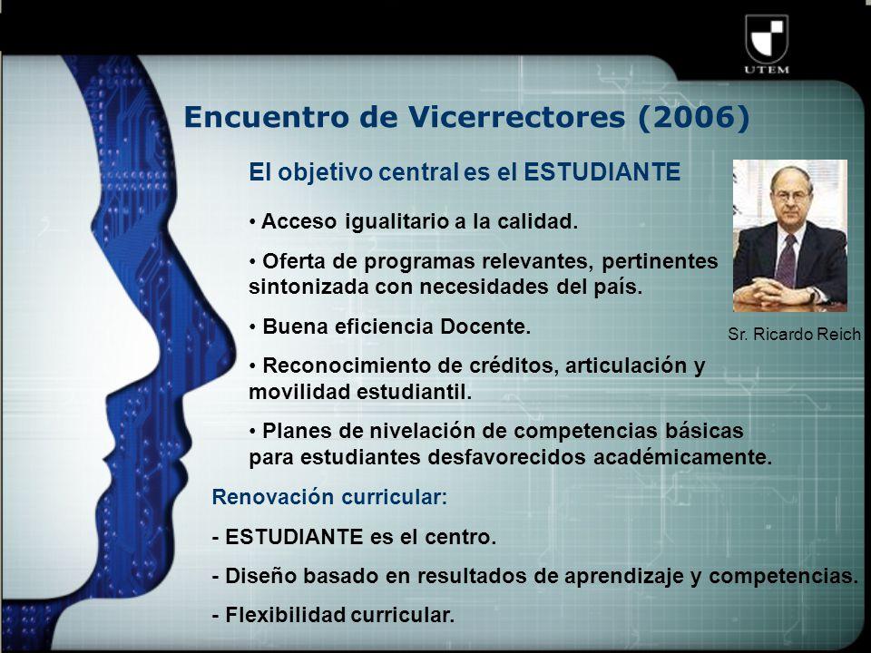 Encuentro de Vicerrectores (2006) Sr.