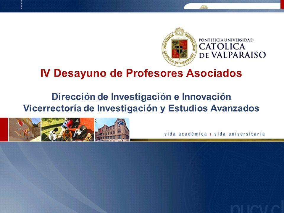 IV Desayuno de Profesores Asociados Dirección de Investigación e Innovación Vicerrectoría de Investigación y Estudios Avanzados