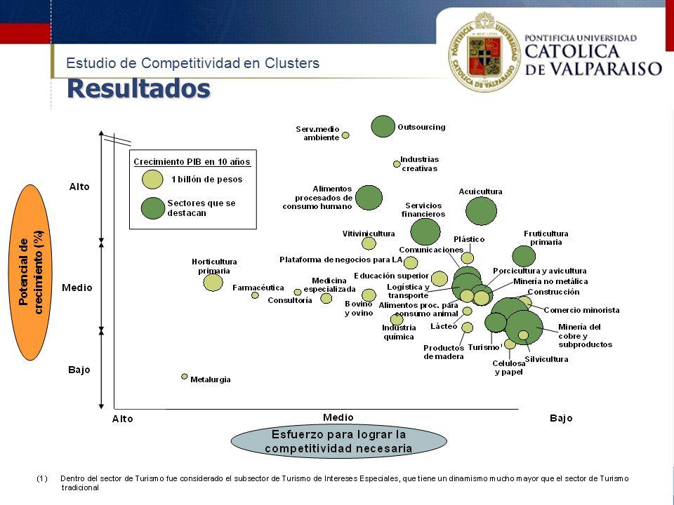 Resultados Estudio de Competitividad en Clusters Resultados