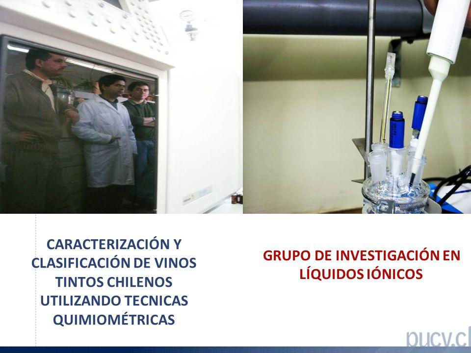 CARACTERIZACIÓN Y CLASIFICACIÓN DE VINOS TINTOS CHILENOS UTILIZANDO TECNICAS QUIMIOMÉTRICAS GRUPO DE INVESTIGACIÓN EN LÍQUIDOS IÓNICOS