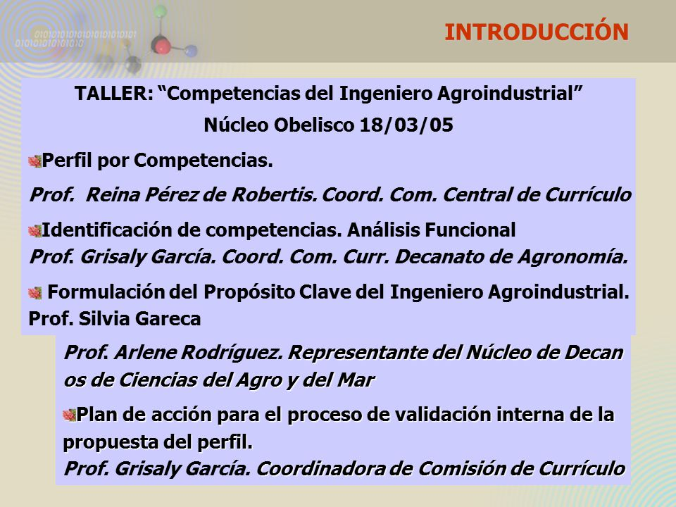 INTRODUCCIÓN FORO: Perfil Profesional basado en competencias.