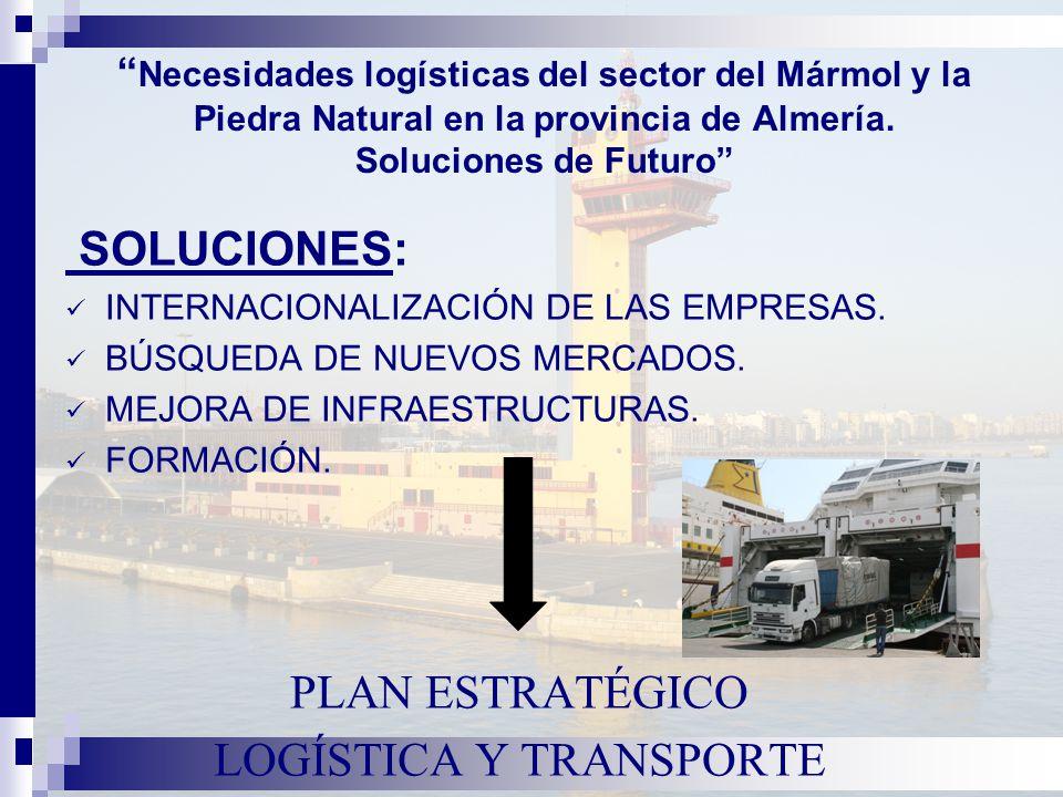 Necesidades logísticas del sector del Mármol y la Piedra Natural en la provincia de Almería.