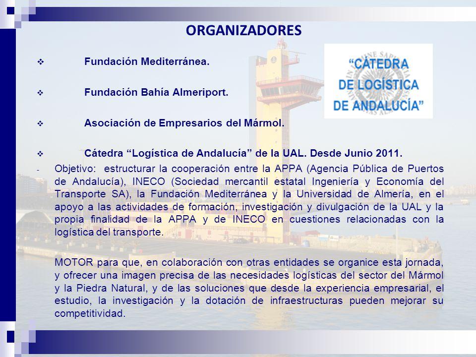 ORGANIZADORES  Fundación Mediterránea.  Fundación Bahía Almeriport.