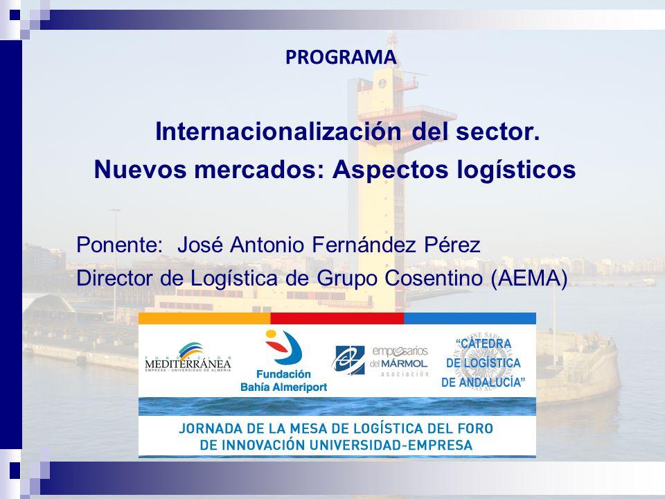 PROGRAMA Internacionalización del sector.