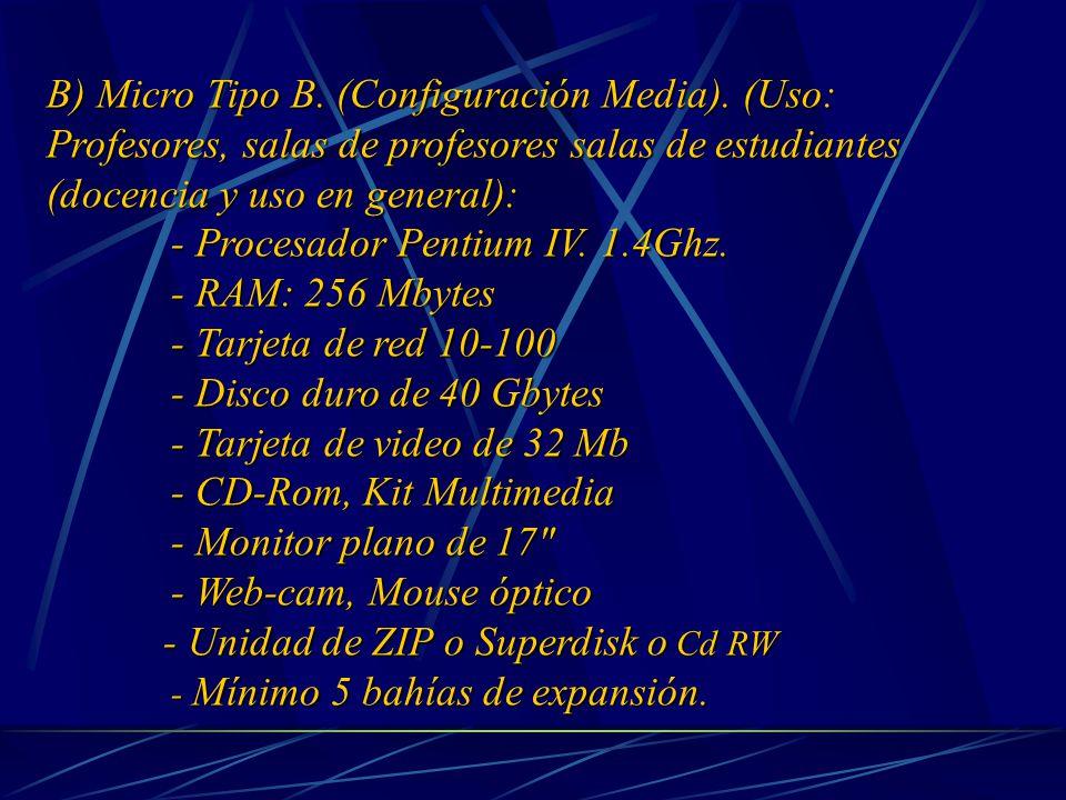 B) Micro Tipo B. (Configuración Media).