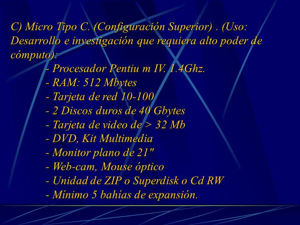 C) Micro Tipo C. (Configuración Superior).
