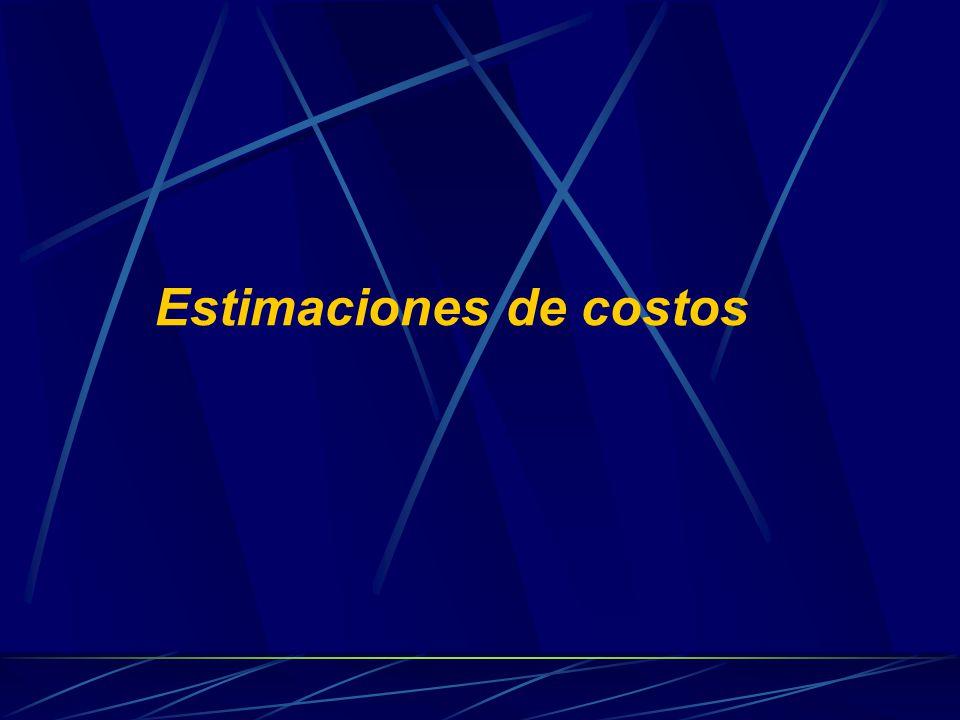 Estimaciones de costos