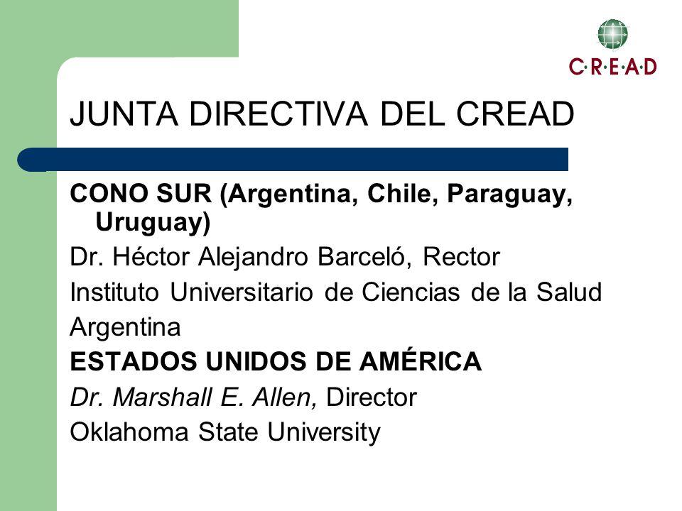 JUNTA DIRECTIVA DEL CREAD CONO SUR (Argentina, Chile, Paraguay, Uruguay) Dr.