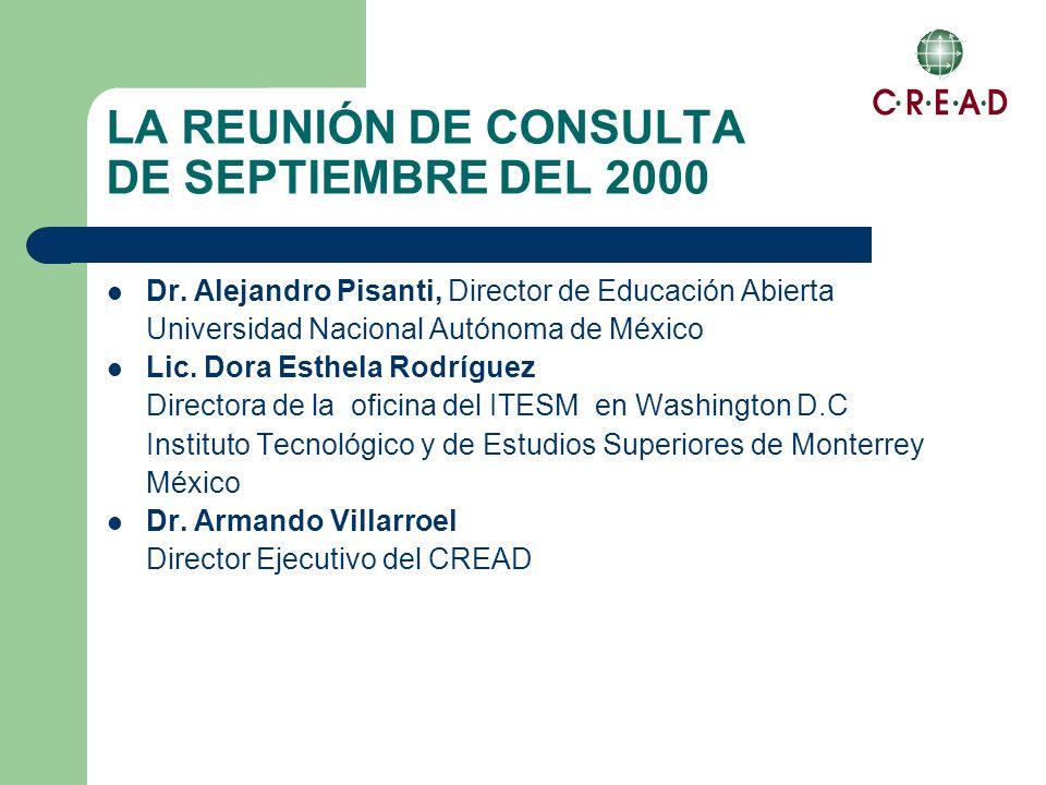 LA REUNIÓN DE CONSULTA DE SEPTIEMBRE DEL 2000 Dr.