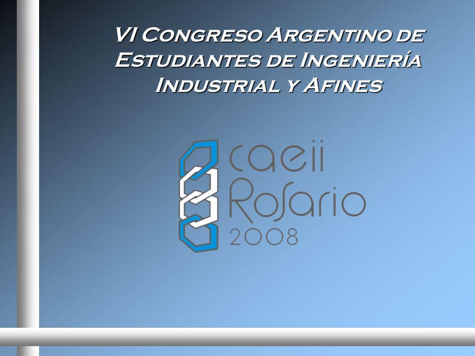 VI Congreso Argentino de Estudiantes de Ingeniería Industrial y Afines