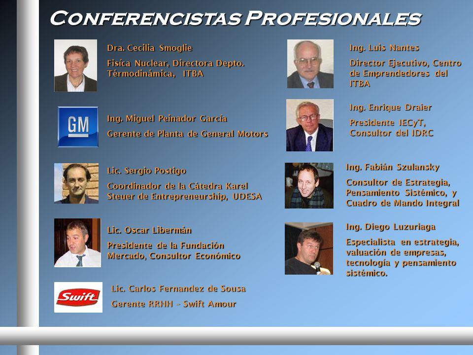 Conferencistas Profesionales Ing.