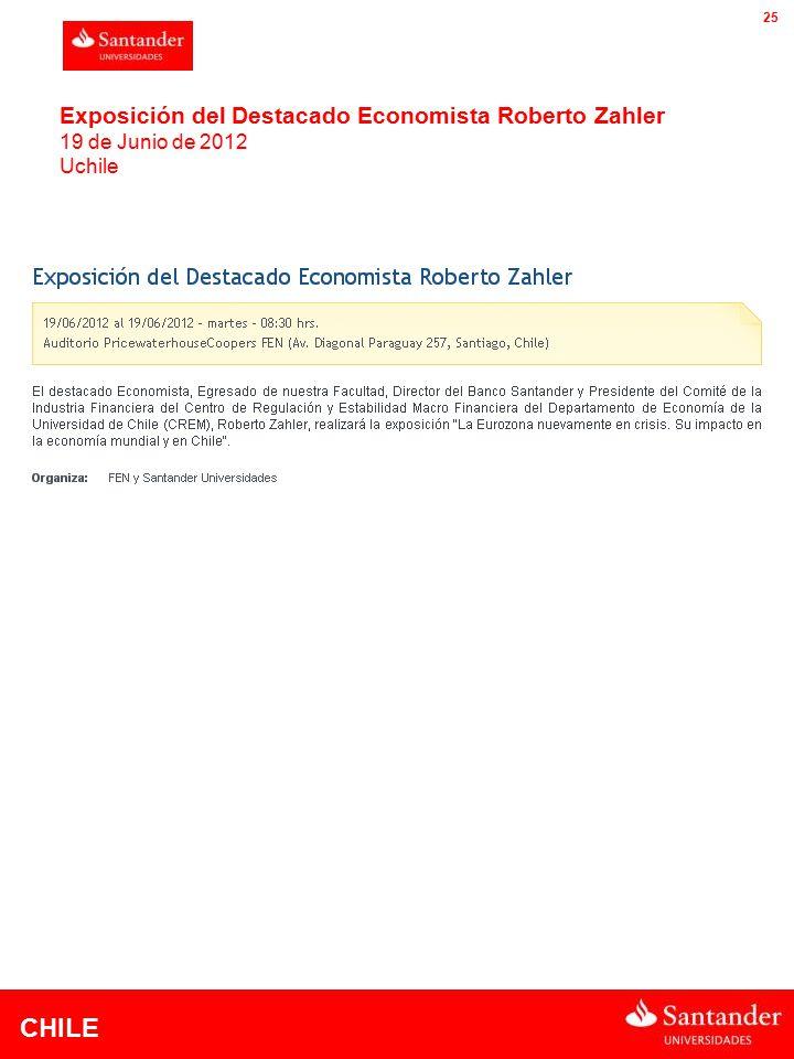CHILE 25 Exposición del Destacado Economista Roberto Zahler 19 de Junio de 2012 Uchile