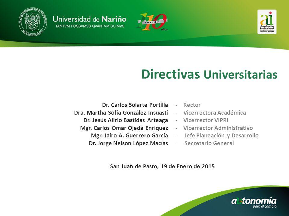 Directivas Universitarias Dr. Carlos Solarte Portilla Dra.