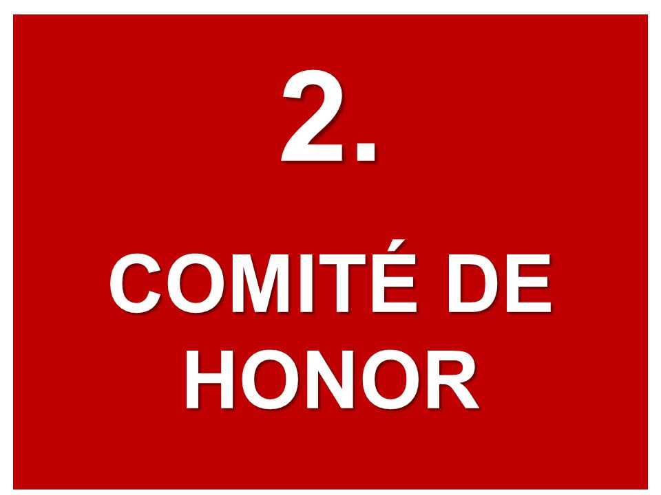 2. COMITÉ DE HONOR