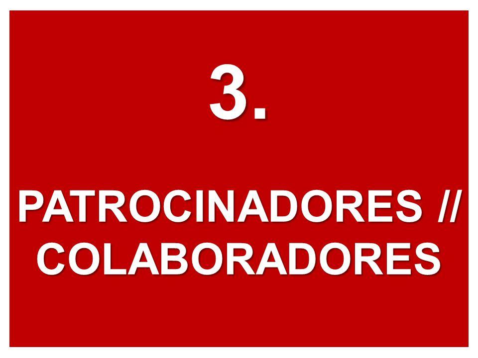 3. PATROCINADORES // COLABORADORES