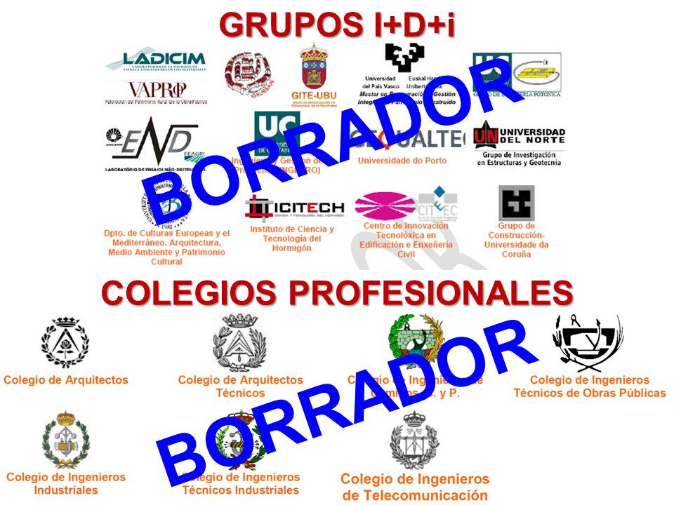 COLEGIOS PROFESIONALES GRUPOS I+D+i BORRADOR