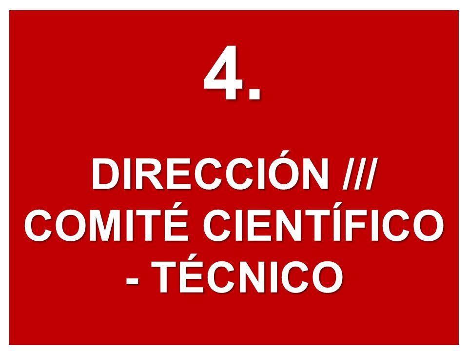 4. DIRECCIÓN /// COMITÉ CIENTÍFICO - TÉCNICO