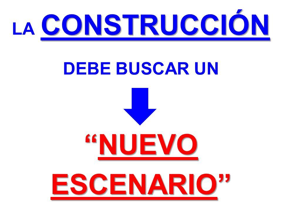 CONSTRUCCIÓN NUEVO ESCENARIO LA CONSTRUCCIÓN DEBE BUSCAR UN NUEVO ESCENARIO
