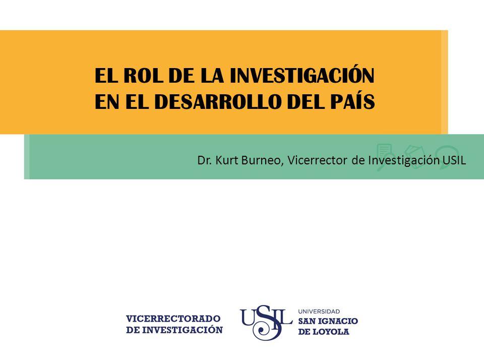 EL ROL DE LA INVESTIGACIÓN EN EL DESARROLLO DEL PAÍS Dr.