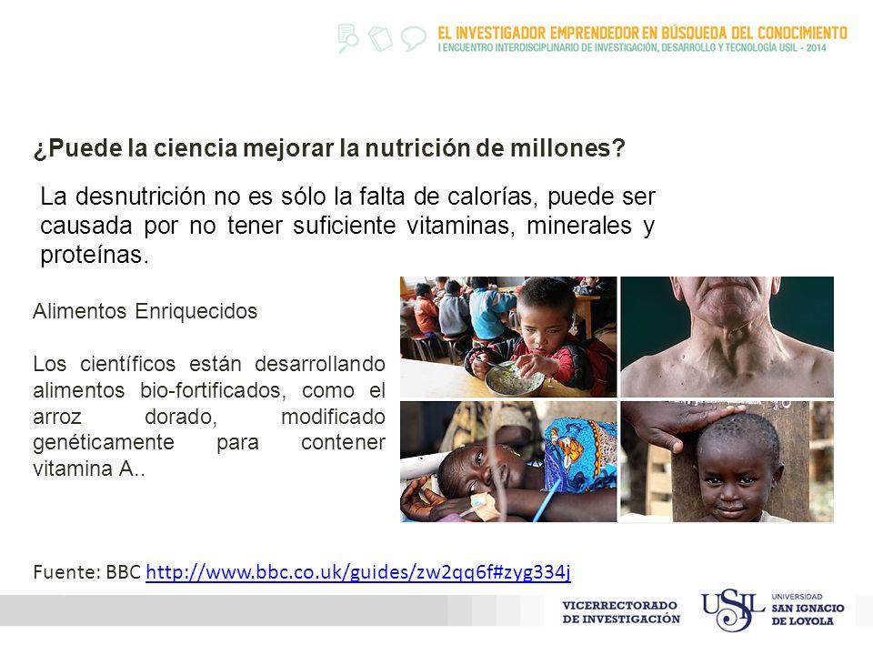 La desnutrición no es sólo la falta de calorías, puede ser causada por no tener suficiente vitaminas, minerales y proteínas.