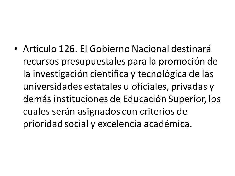 Artículo 126.