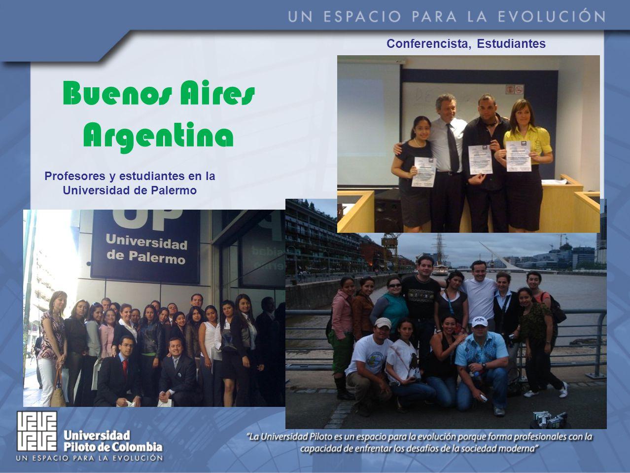 Buenos Aires Argentina Conferencista, Estudiantes Profesores y estudiantes en la Universidad de Palermo