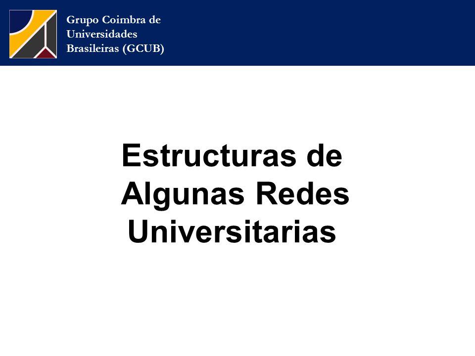 Grupo Coimbra de Universidades Brasileiras (GCUB) Estructuras de Algunas Redes Universitarias