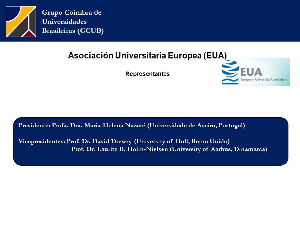 Grupo Coimbra de Universidades Brasileiras (GCUB) Presidente: Profa.