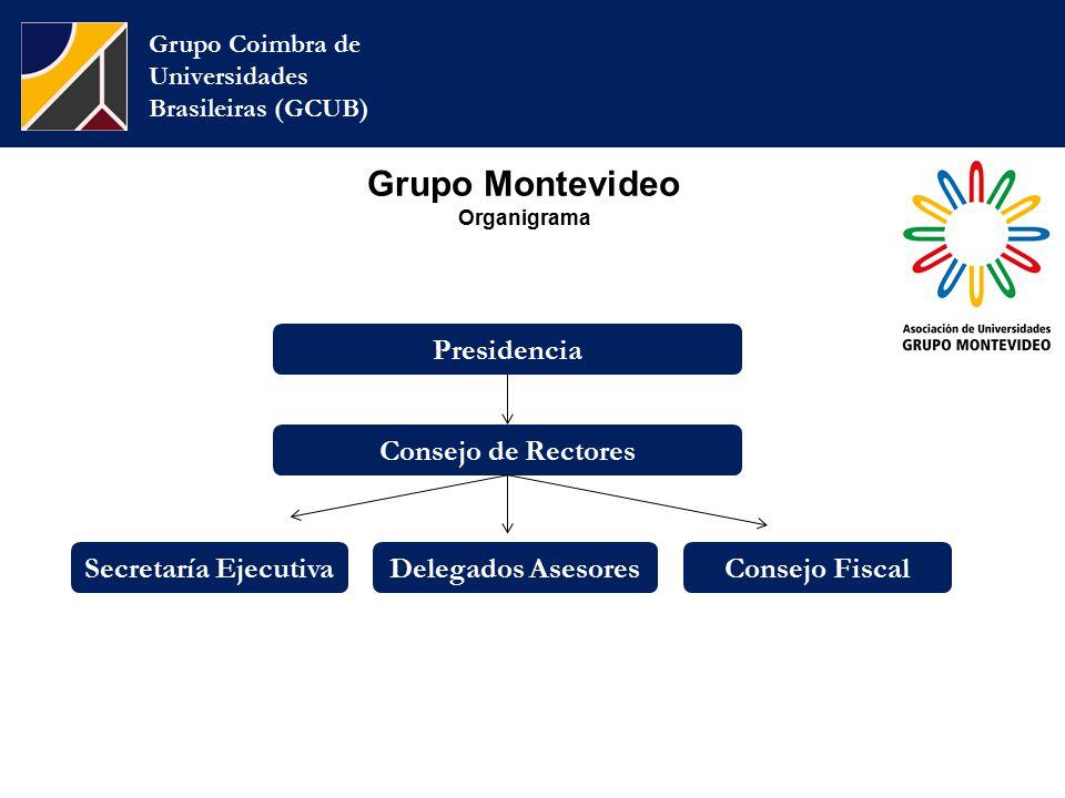 Grupo Montevideo Organigrama Grupo Coimbra de Universidades Brasileiras (GCUB) Consejo de Rectores Secretaría EjecutivaDelegados AsesoresConsejo Fiscal Presidencia