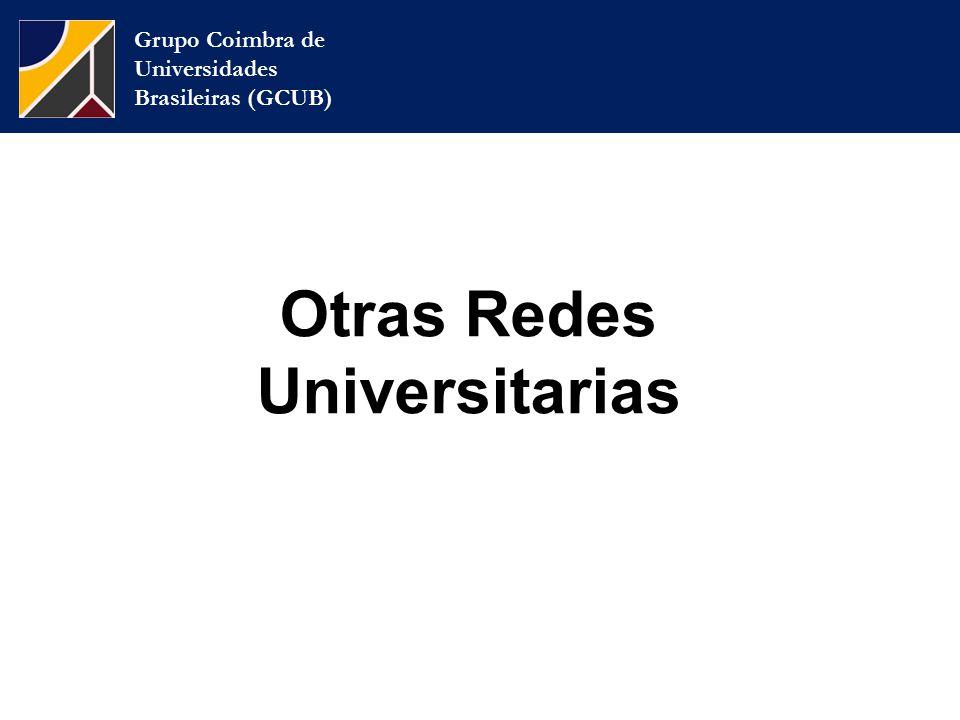 Grupo Coimbra de Universidades Brasileiras (GCUB) Otras Redes Universitarias