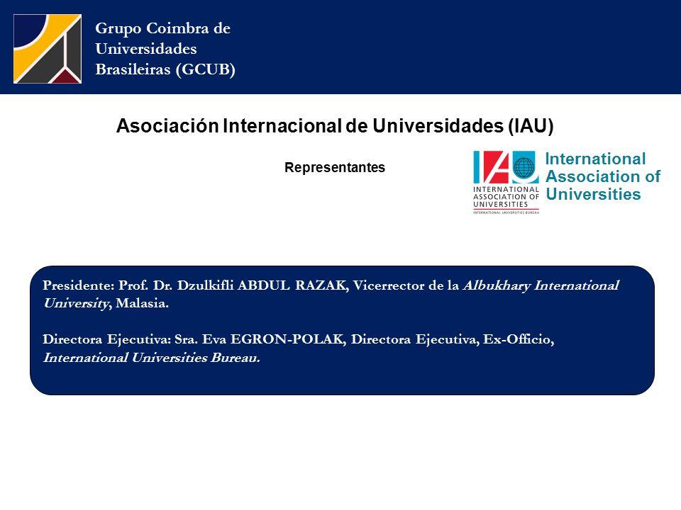 Grupo Coimbra de Universidades Brasileiras (GCUB) Presidente: Prof.