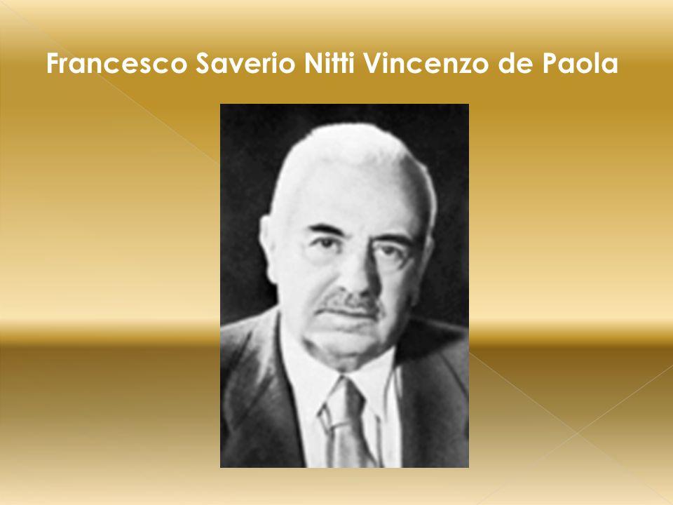 Francesco Saverio Nitti Vincenzo de Paola