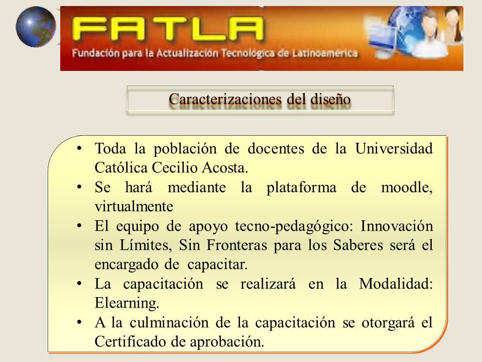 Toda la población de docentes de la Universidad Católica Cecilio Acosta.