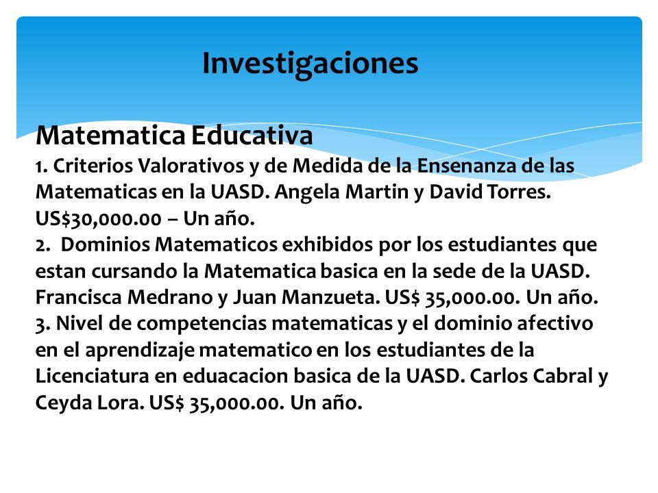 Investigaciones Matematica Educativa 1.