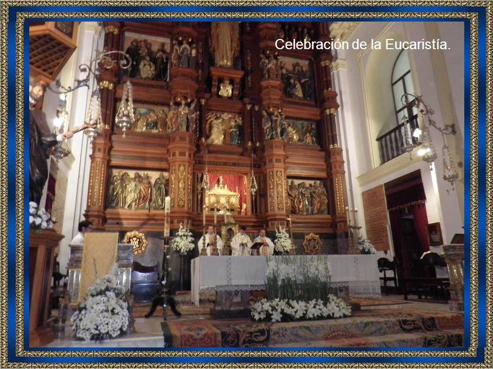 Don Tomás Pajuelo, Consiliario Diocesano de ANFE, nos dio una bonita meditación, toda relacionada con la vida del santo.