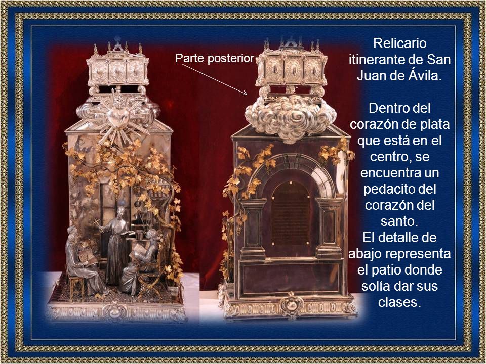 Después de la foto, Don Carlos nos dio a besar la reliquia de San Juan de Ávila.