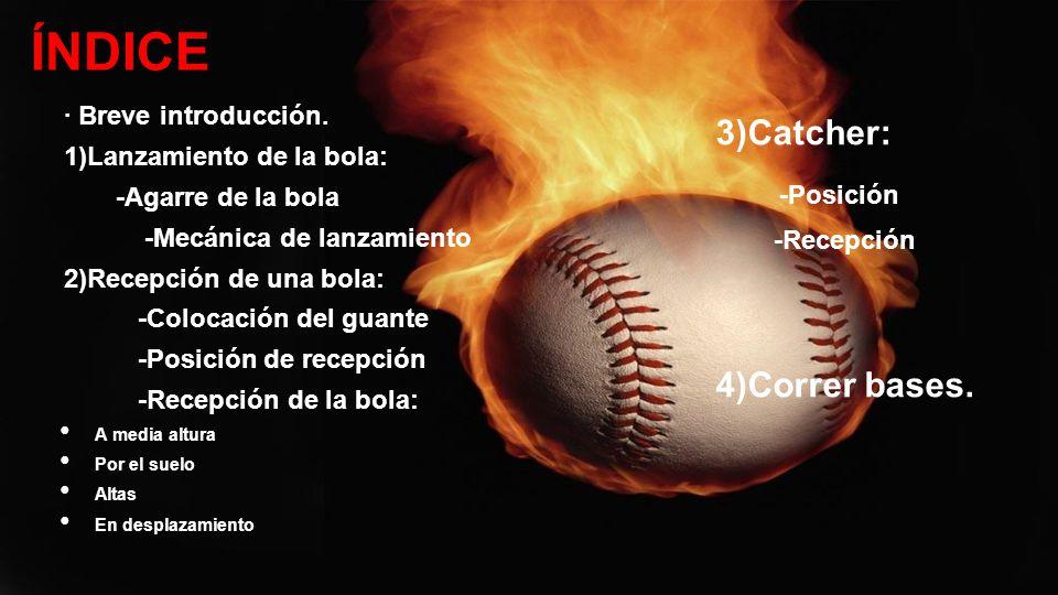 El campo de béisbol consta de tres bases más el home.Si lo que queremos es quedarnos en la primera base, correremos en línea recta.